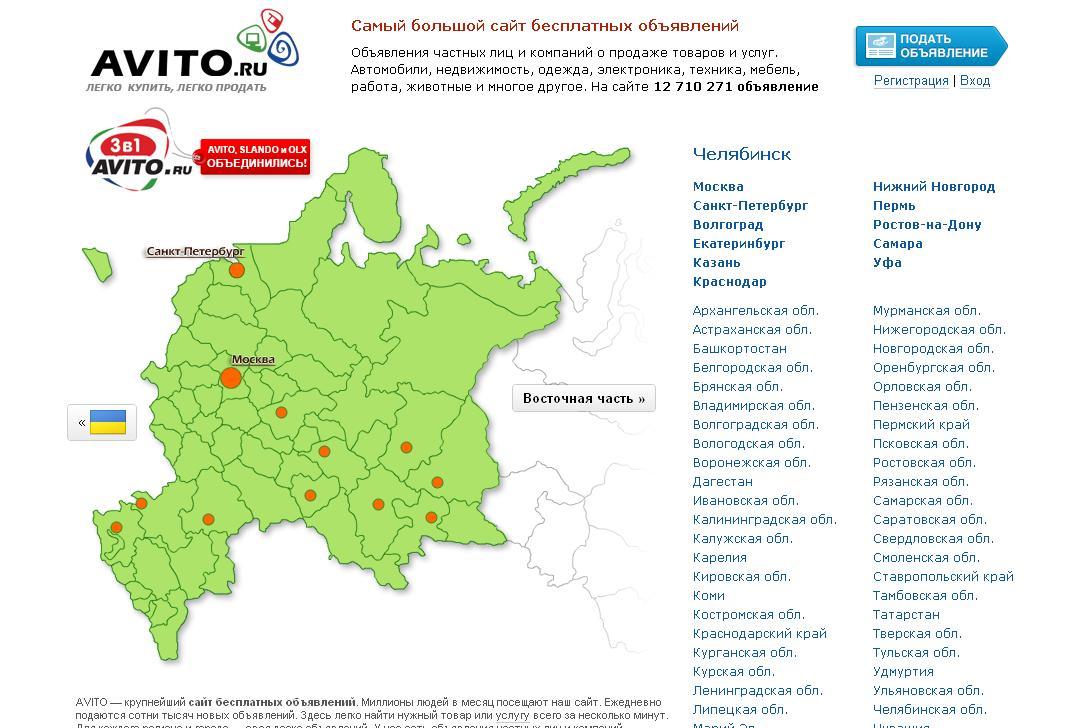 AVITO.ru - сайт бесплатных объявлений